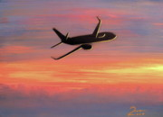 Boeing Paintings - 737-800 by Peter Ring