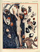 Mens Drawings Prints - 1920s France La Vie Parisienne Magazine Print by The Advertising Archives