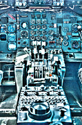 747 Photos - 747 Cockpit 2 by Micah May