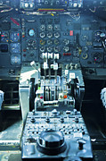 747 Photos - 747 Cockpit 4 by Micah May