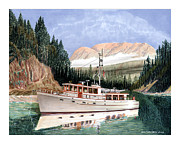 Cruising Paintings - 75 Foot Classic Bridgrdeck Yacht by Jack Pumphrey