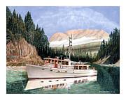 75 Foot Classic Bridgrdeck Yacht Print by Jack Pumphrey