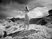 Tasteful Art Prints - 7642 Nude On Wings of Mountian Wind  Print by Chris Maher