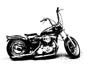 Sportster Photos - 77 Xlh Bw by Kustom Jeff Dailey