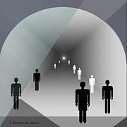 The End Digital Art - 789 - Light at the end of the tunnel by Irmgard Schoendorf Welch