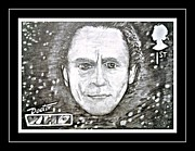 Mccoy Drawings Framed Prints - 7th Doctor Sylvester McCoy Framed Print by Jenny Campbell Brewer