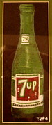 Bottle Cap Pastels Framed Prints - 7up Bottle Framed Print by Joseph Hawkins