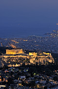 Parthenon Photos - Acropolis of Athens during dusk time by George Atsametakis