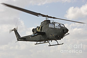 Featured Acrylic Prints - An Ah-1s Tzefa Attack Helicopter Acrylic Print by Ofer Zidon