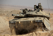 Battletank Prints - An Israel Defense Force Merkava Mark Iv Print by Ofer Zidon