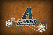 Baseball Bat Posters - Arizona Diamondbacks Poster by Joe Hamilton