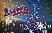 Christmas Doors Framed Prints - Atlanta Braves Framed Print by Joe Hamilton