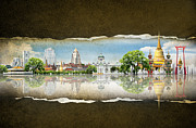 Authentic Inspiration Framed Prints - Background Travel Concept Framed Print by Potowizard Thailand