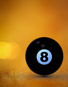 Sports Bar Prints - 8 Ball Print by Bob Orsillo