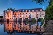 Castle Framed Prints - Chateau Chenonceau Framed Print by Brian Jannsen