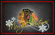 Rink Posters - Chicago Blackhawks Poster by Joe Hamilton