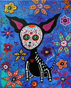 Doggy Originals - Chihuahua Dia de los Muertos by Pristine Cartera Turkus