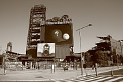 Baseball Cap Prints - Citizens Bank Park - Philadelphia Phillies Print by Frank Romeo