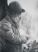 Dzimirsky Drawings Prints - Claude Monet Print by Lulu Hedrick