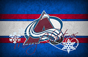 Puck Prints - Colorado Avalanche Print by Joe Hamilton