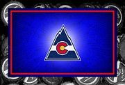 Puck Framed Prints - Colorado Rockies Framed Print by Joe Hamilton