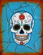 Day Mixed Media Prints - Day of the Dead Print by Joseph Sonday