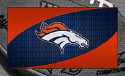 Offense Framed Prints - Denver Broncos Framed Print by Joe Hamilton