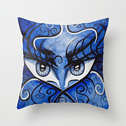 Pillow Tapestries - Textiles - Expressive Eyes by Annette Jimerson