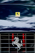 Collector Hood Ornament Metal Prints - Ferrari Hood Emblem Metal Print by Jill Reger