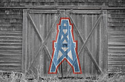 Oilers Framed Prints - Houston Oilers Framed Print by Joe Hamilton