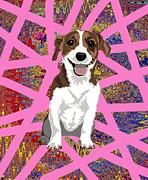 Puppies Digital Art - Jack Russell Terrier by R L Nielsen