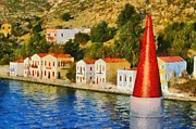 Greek Islands Posters - Kastellorizo island Poster by George Atsametakis