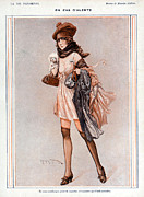 Prostitution Drawings - La Vie Parisienne 1918 1910s France by The Advertising Archives