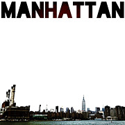 Nyc Digital Art Metal Prints - Manhattan Metal Print by Natasha Marco