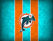 Miami Dolphins Framed Prints - Miami Dolphins Framed Print by Joe Hamilton