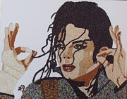Portraits Reliefs Framed Prints - Michael Jackson Framed Print by Kovats Daniela