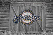 Baseball Bat Framed Prints - Milwaukee Brewers Framed Print by Joe Hamilton