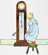 Hickory Dickory Dock Posters - Mother Goose, 1916 Poster by Granger