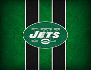 Football Framed Prints - New York Jets Framed Print by Joe Hamilton