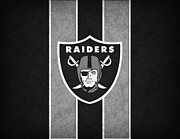 Offense Metal Prints - Oakland Raiders Metal Print by Joe Hamilton