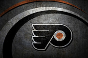 Puck Framed Prints - Philadelphia Flyers Framed Print by Joe Hamilton