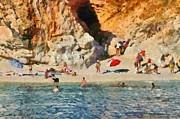 Porto Katsiki Beach In Lefkada Island Print by George Atsametakis