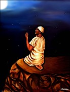 Religion Paintings - Praying to Allah by Carmen Cordova