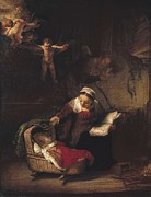 Jesus With Boy Framed Prints - Rembrandt, Harmenszoon Van Rijn, Called Framed Print by Everett