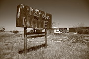 Lodging House Prints - Route 66 - Western Motel Print by Frank Romeo