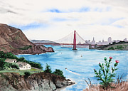 Famous Bridge Originals - San Francisco by Masha Batkova