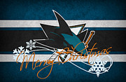 Hockey Art - San Jose Sharks by Joe Hamilton