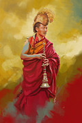 Monks Paintings - South Asian Art  by Corporate Art Task Force
