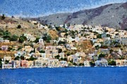 Summer Art - Symi island by George Atsametakis
