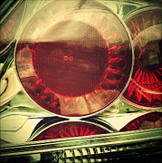 Lens Art - Tail lights by Les Cunliffe